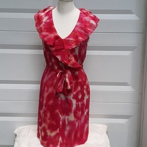 Ann Taylor pink/fuschia tie die dress 4P